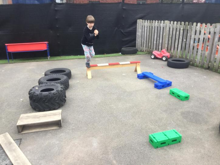 We had fun building and using our outdoor circuit.
