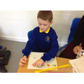 Leo read the sentence and completed the task.