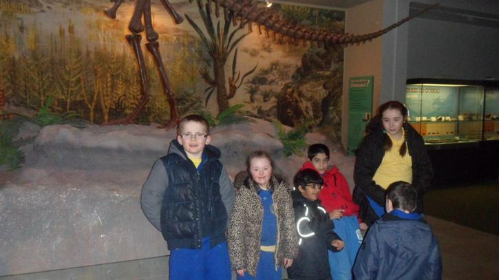 Liam and Yusuf liked the dinosaurs
