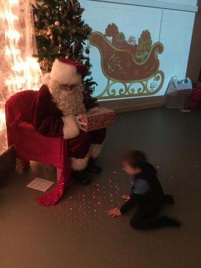 Jake and Father Christmas.