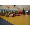 Cedar got the Christmas spirit from the Grinch