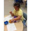 Jasmine adding amounts.