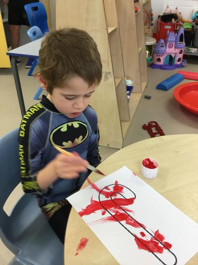 Oscar working independently.
