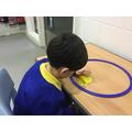 Brandon enjoyed exploring circles.
