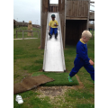 Remario on the slide