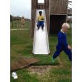 Remario on the slide
