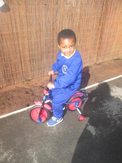 Remario having an early morning cycle