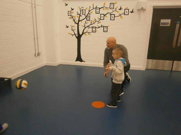 Makenzie aiming at the hoop
