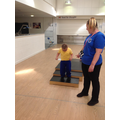 Callum completing the steps during our MOVE PE circuit