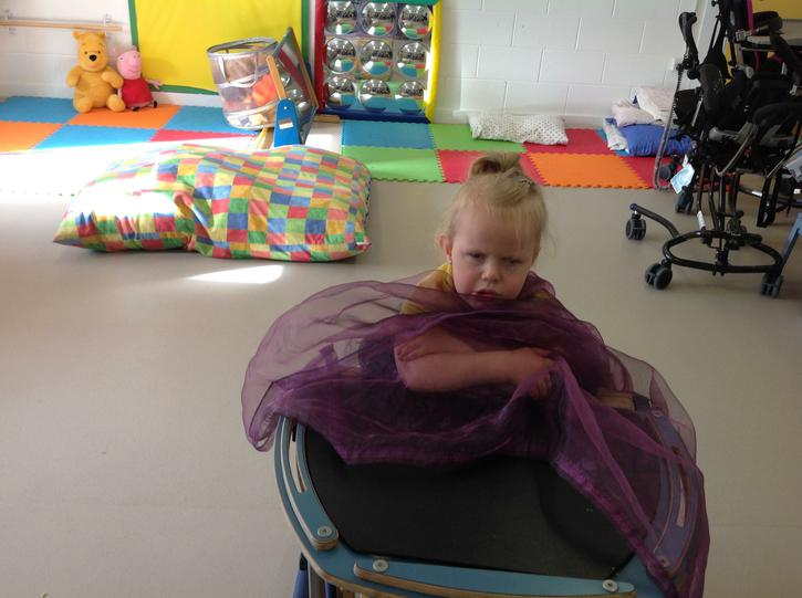 Liliana cosy in her blanket