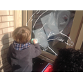 Developing pre writing skills cleaning the windows
