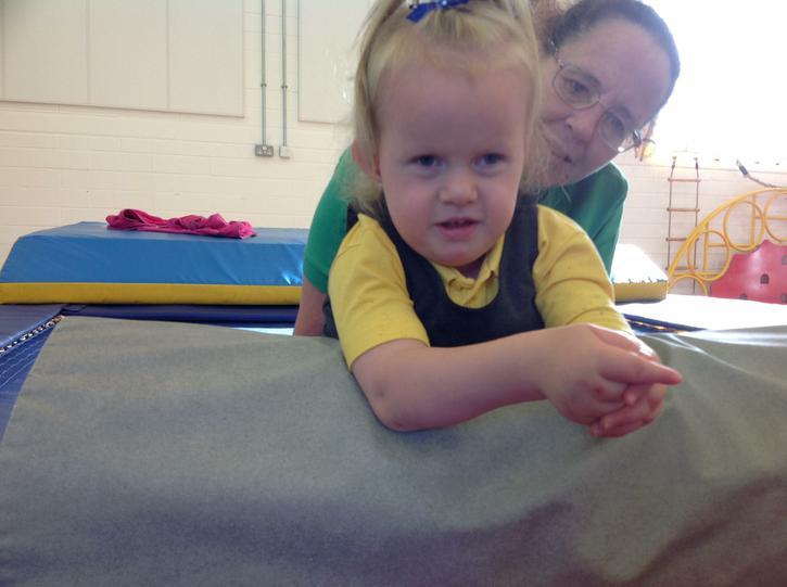Liliana practising kneeling