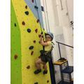 Anna climbing