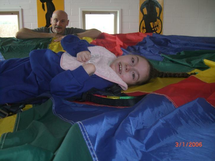Faye having a sensory bounce!