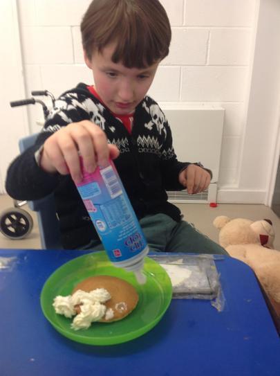 Ross enjoyed exploring the wipe cream