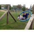 Sky and Declan sharing the swing