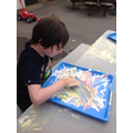 exploring colour mixing with play foam
