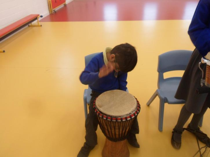 Yusuf practised counting the beats.