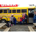 We found a big yellow bus just like in our story!