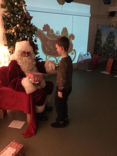 Austin and Father Christmas.