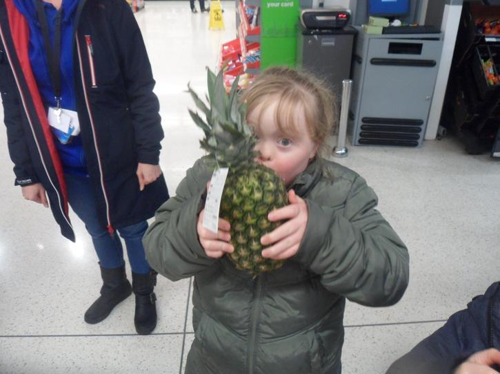 Grace found a pineapple in asda