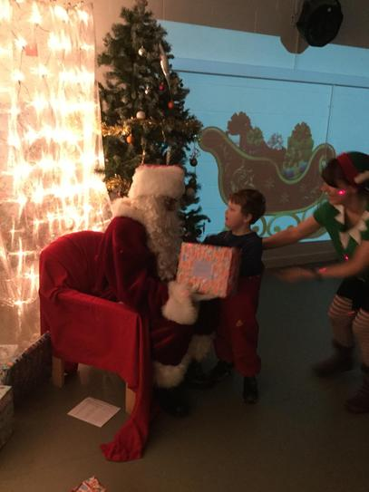 Lewis and Father Christmas.
