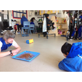 Shama was happy exploring the edible mud with Nick