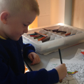 Ellis working on his fine motor skills.