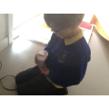 Isaac tasted his smoothie