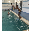 Ayman likes to jump and splash!
