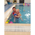 Poppy enjoying her swim session