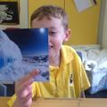 Charlie found the icy cliffs!