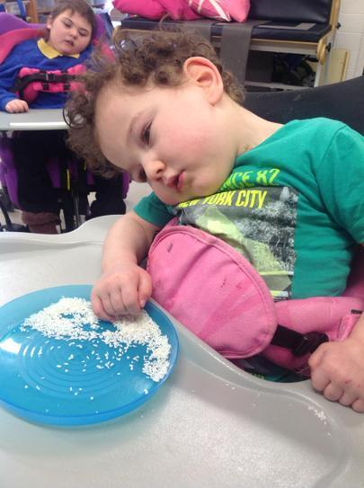 Massine is exploring coconut flakes.