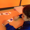 Alishba could was able to read the symbol sentences independently.
