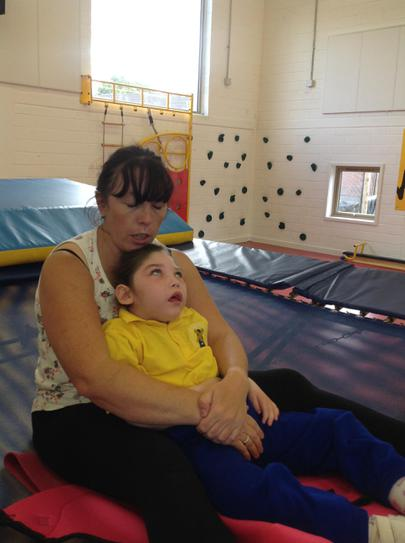 Eve working on supported sitting