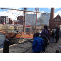 We spotted a pirate ship in the Albert Dock.