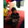 Exploring the sensory materials in the circus tent