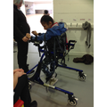 Salma has also started using a Rifton Walker!