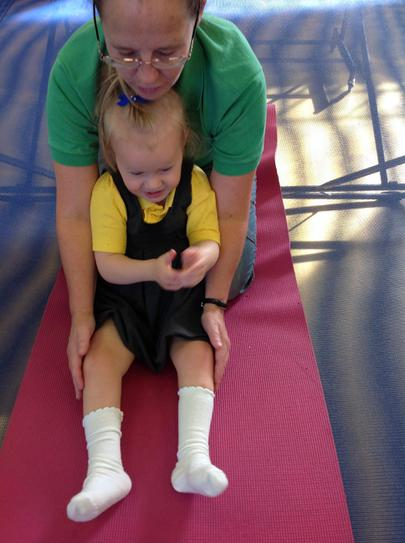 Liliana working on supported sitting