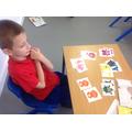 Mateusz developed his hand eye coordination.