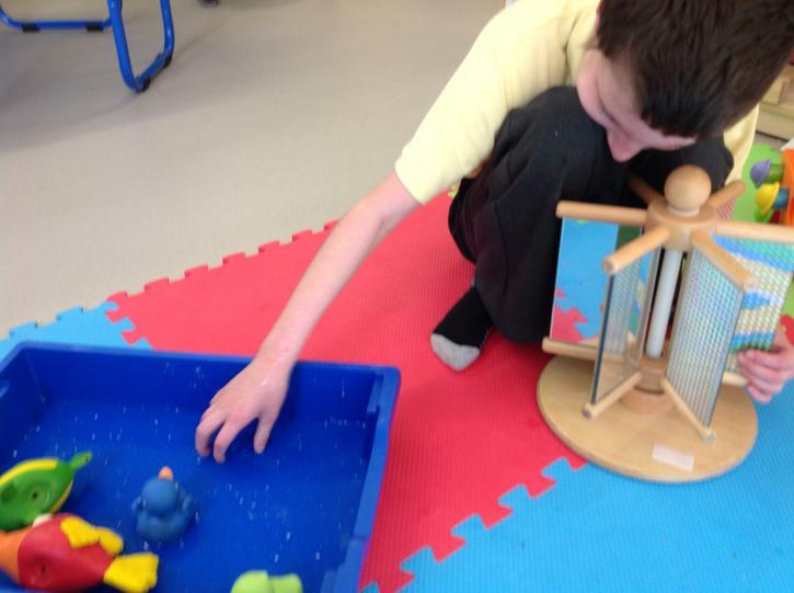 Splashing the water for the ducks!