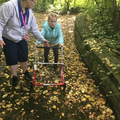 Liliana doing amazingly well walking at forest school