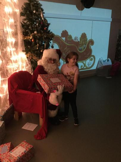Layla and Father Christmas.