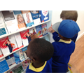 We collected leaflets in the doctors.