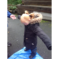 Ruby enjoying forest school