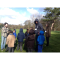 group discussion in the park