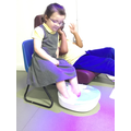 A foot spa for Anna before having her nails painte