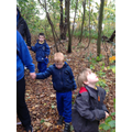 Gabriel looked at the tall trees.