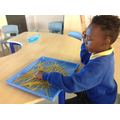 Sensory play with pasta