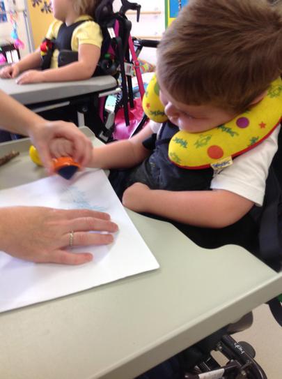 Jack making rubbings of natural materials.